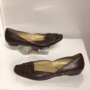 Slip on Jules Buckle pin Square point Espadrilles